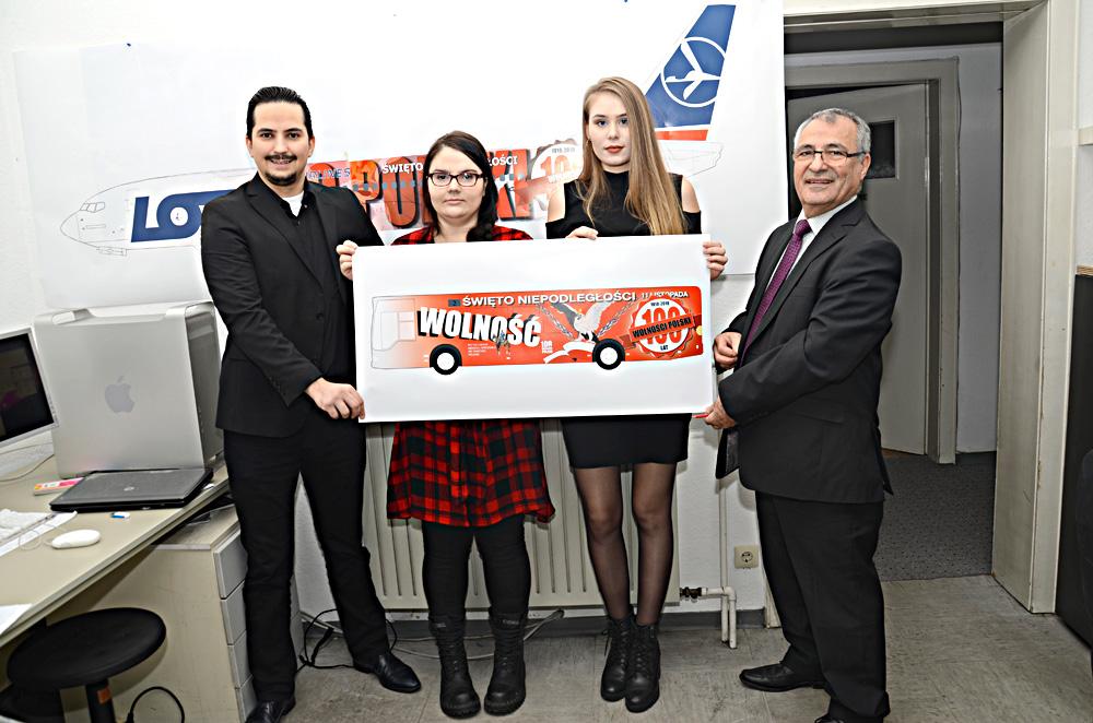 Polanya'nın 100. yıl kutlaması için yapılan çalışma