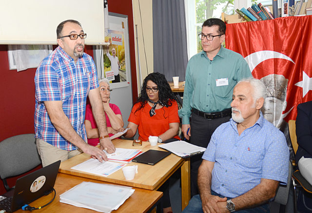 Başkan İbrahim Çelik ve yönetim kurulu üyeleri: Aynur Alma, Sibel Gümüş, Kemal Erdoğan, Mehmet Türkeköle