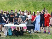 Bielefeld Üniversitesi Hukukçular Birliği'nin mahkumlarla ilgili düzenlediği turnuvadan bir kare.