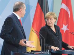 T.C. Cumhurbaşkanı R. Tayyip Erdoğan ve Federal Almanya Başbakanı Angela Merkel.