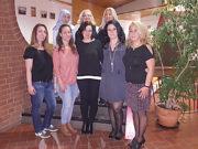 Soldan sağa üst sıra: Talia Satıcı, Sevgi Satıcı, Cevriye Tınastepe. Soldan sağa alt sıra: Berat Sansar, Nilgün Şahin (başkan), Aysel Uzun, Arzul Şaa, Aynur Acar.