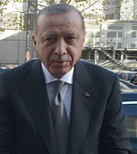 Türkiye Cumhuriyeti Cumhurbaşkanı Recep Tayyip Erdoğan.