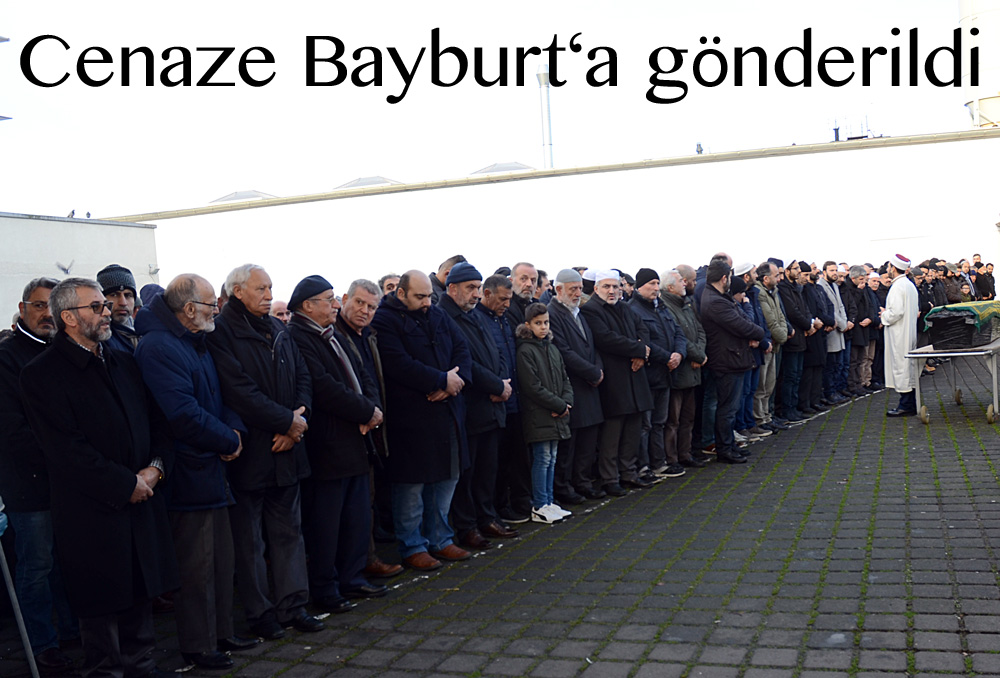 DİTİB Merkez Cami'de kılınan cenaze namazına katılım yoğun oldu