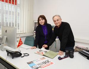 T.C. Münster Başkonsolosu Pınar Gülün Kayseri ve Adnan Öztürk.