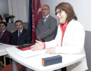 Başkonsolos Pınar Gülün Kayseri selamlama konuşması yaptı.