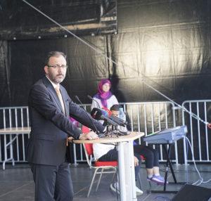 T.C. Gençlik ve Spor Bakanı Mehmet Muharrem Kasapoğlu.
