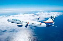 Göklerde SunExpress uçakları..