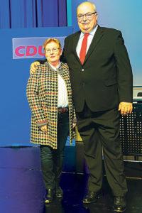 Hamm Belediye başkanı Thomas Hunsteger-Petermann adaylığını açıkladığında yanında her zaman destek bulduğu eşi Gerda Hunsteger-Petermann vardı.