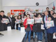 10 Ocak ziyaretçileri finali Öztürk gazetesinin Ocak 2020 sayısını ellerine alarak programı noktaladılar.