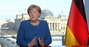 Başbakan Angela Merkel halka seslendi.