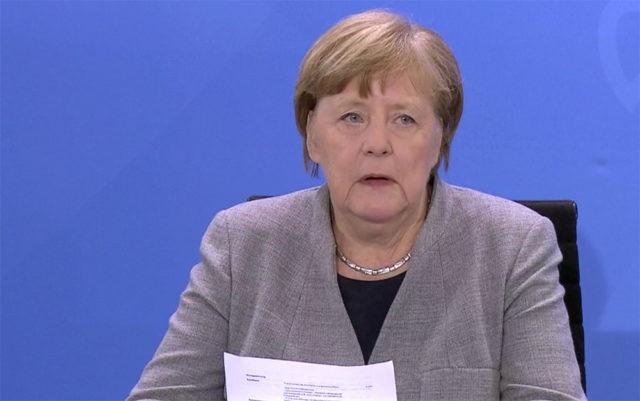 Federal Almanya başbakanı Angela Merkel. Fotoğraf: Ekran görüntüsü.